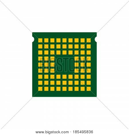 Cpu Icon Vector, Processor Solid Logo Illustration, Colorful Pictogram Isolated On White