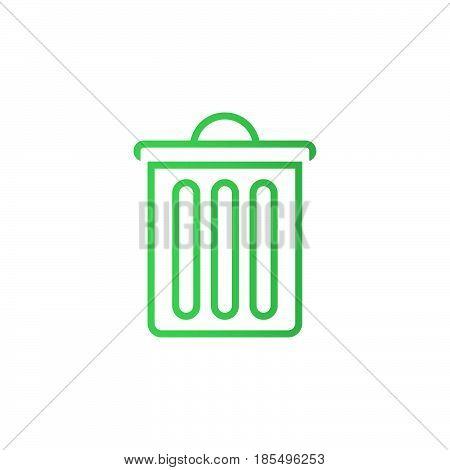 Trash Bin Line Icon, Delete Outline Vector Logo Illustration, Linear Pictogram Isolated On White