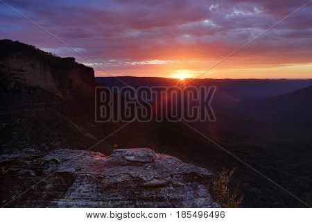 Sunrise Over The Mountain Ranges