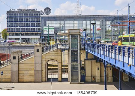 Poznan, Poland - May 1, 2017: The Building Of The International