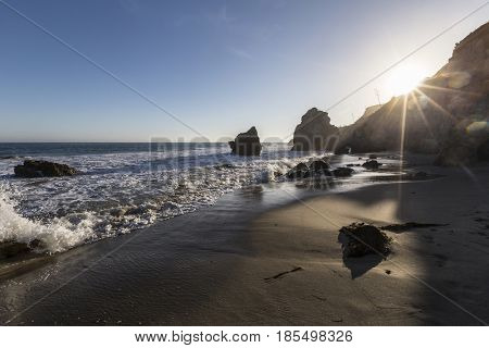 Afternoon at El Matador State Beach in Malibu California.