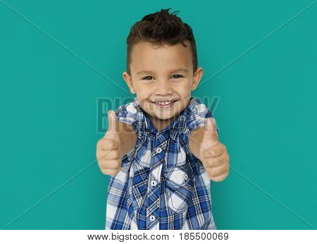 Little Boy Two Thumbs Up
