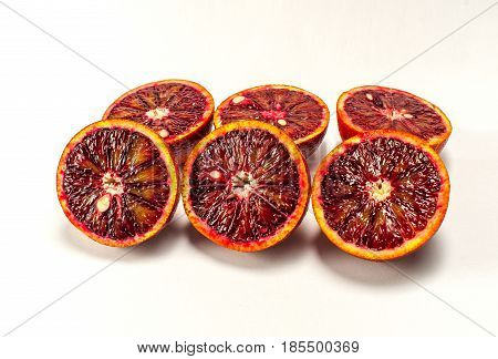 Sicilian orange ruby red oranges six halves