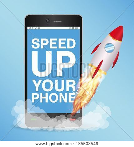 speed up smart phone boost with toy rocket