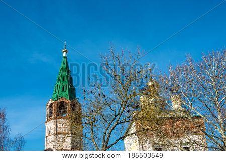 The Restoration Of The Church In The Village Of Goritsy, Shuyskiy Rayon, Ivanovskaya Oblast, Russia.