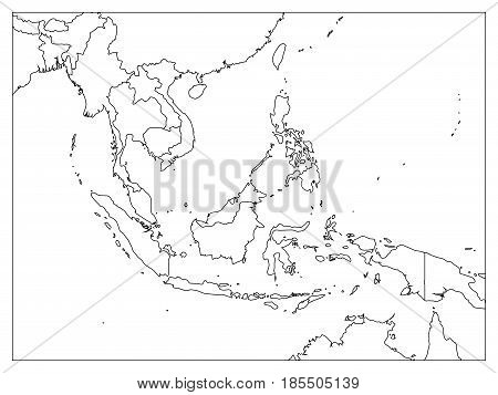 South East Asia Vector Photo Free Trial Bigstock