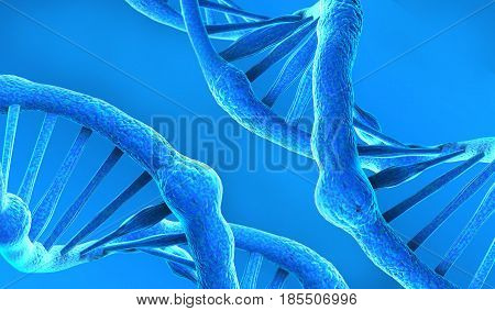 DNA structure with abstract background, Deoxyribonucleic acid