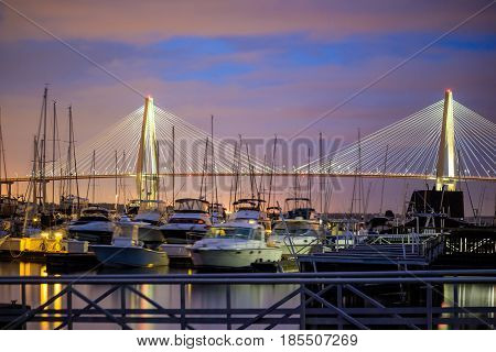Skyline Of Charleston, South Carolina,