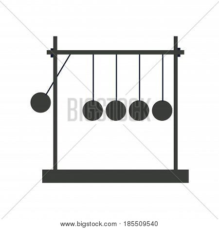 newtons cradle momentum pendulum metal image vector illustration