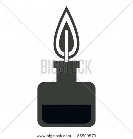 bunsen burner experiment scientific glass vector illustration