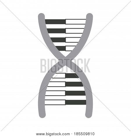 dna molecule chromosome biology genetic vector illustration