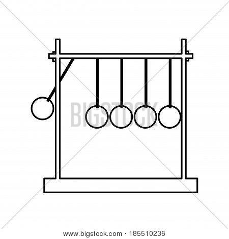 newtons cradle momentum pendulum metal line vector illustration