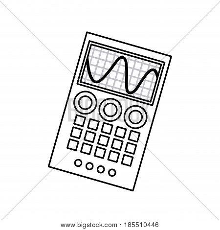 measuring device laboratory reseach line vector illustration