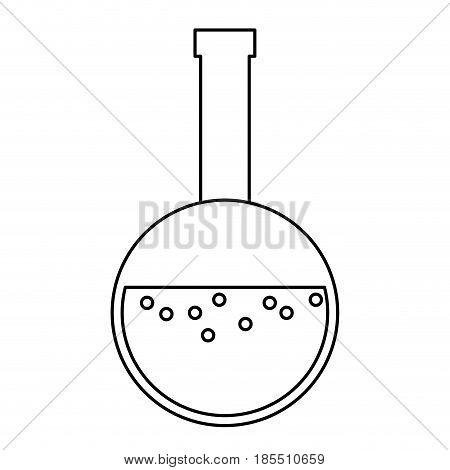 glass beaker laboratory liquid bottle line vector illustration