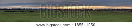 Panoramic View Of Field Near Greifswald, Germany