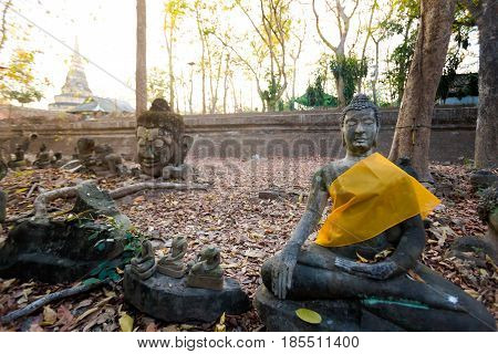 Buddha Sculptures In Wat Udong