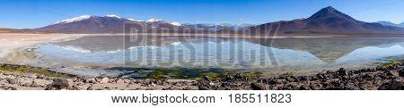 Clear Altiplano Laguna Panoramic In Sud Lipez Reserva, Bolivia