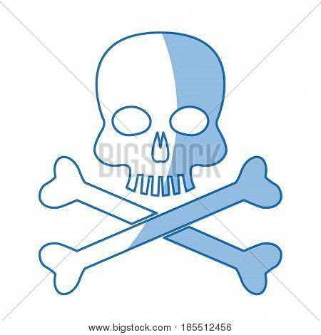 skull bones danger poison laboratory shadow vector illustration
