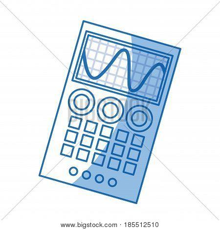 measuring device laboratory reseach shadow vector illustration