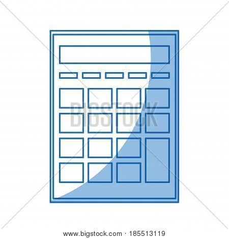 calculator investigate research rates shadow vector illustration