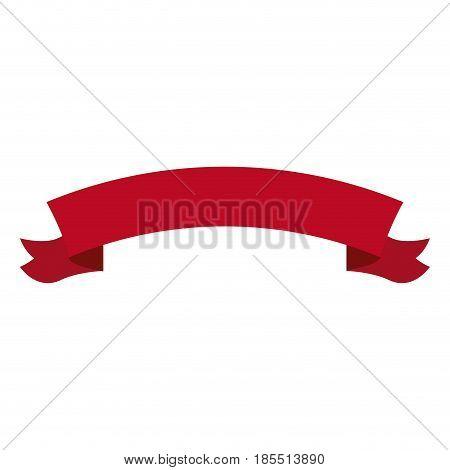 ribon banner decoration ornament element vector illustration
