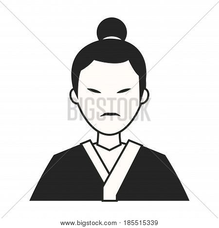 character japanese man clothes culture vector illustration