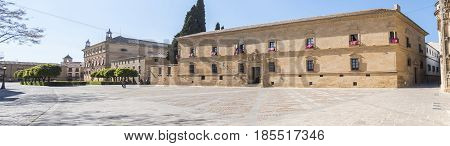 Parador hotel and town hall of Ubeda Vazquez Molina Square Jaen Spain