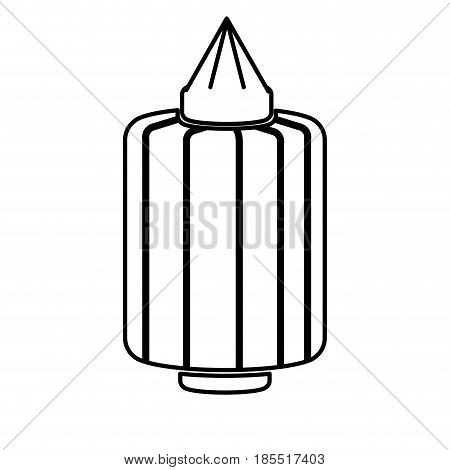 japanese lantern decoration festive culture line vector illustration