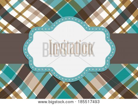 Greeting card design. Vector illustration. Retro style decorative template.