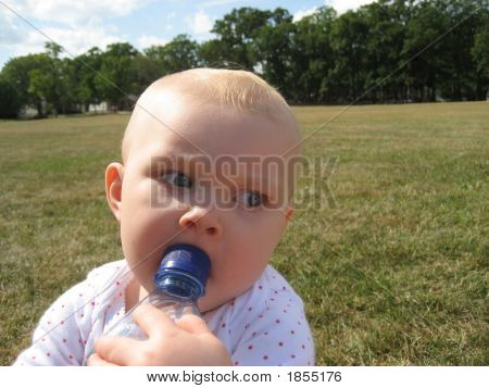 Baby And Water Bottle