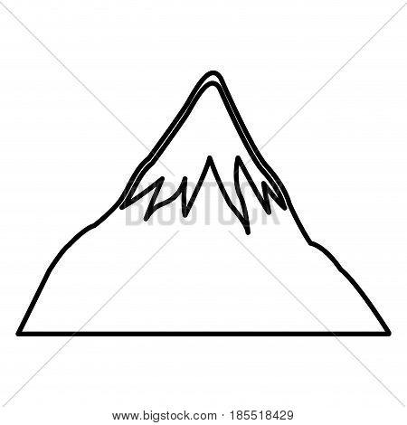 mount fuji japan landscape natural line vector illustration