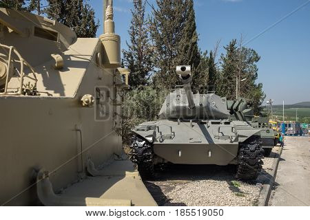 Lot Of Old Armor Tanks Presented At Latrun Armored Corps Museum