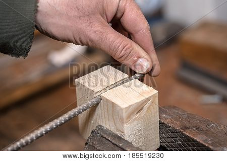 Rasp In The Rugged Hands Of A Skilled Carpenter