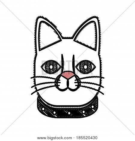 drawing japanese lucky cat symbolic talisman toy tradition vector illustration