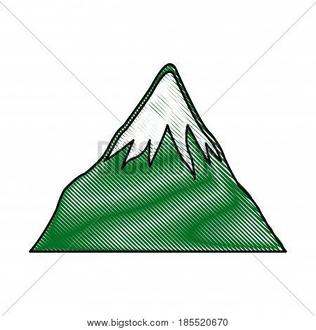 drawing mount fuji japan landscape natural image vector illustration