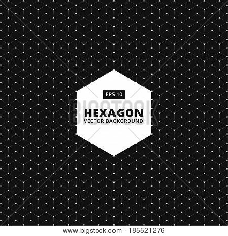 Vector hexagon seamless pattern. Modern stylish texture. connection Repeating geometric background. Trendy hipster sacred geometry.