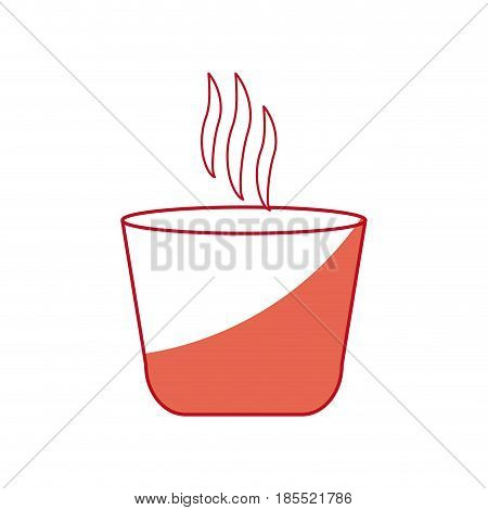 japanese teacup beverage drink hot shadow vector illustration