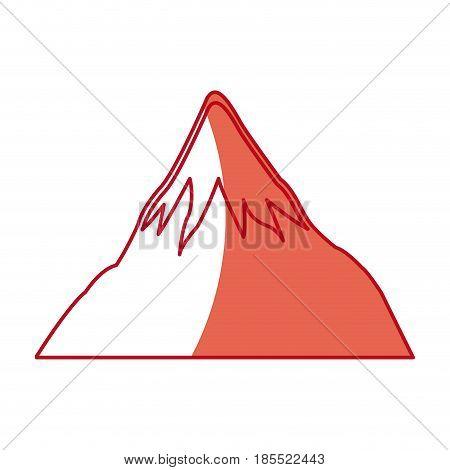 japanese mount fuji landmark natural ecology shadow vector illustration