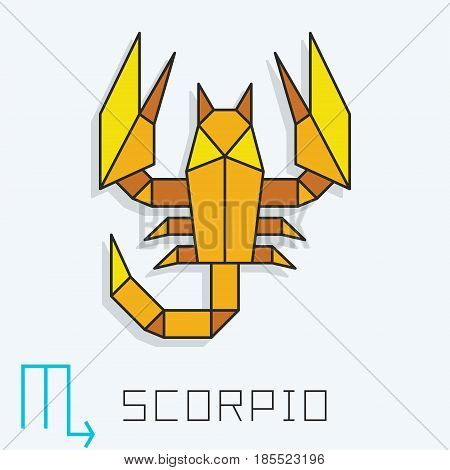 Scorpio zodiac sign, horoscope symbol, vector illustration poster