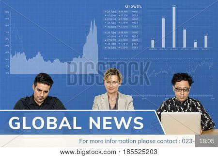 News Caster Global News