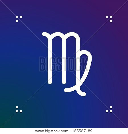 Virgo Zodiac Vector Sign, Horoscope Symbol, Astrology Line Icon, Linear Logo Illustration