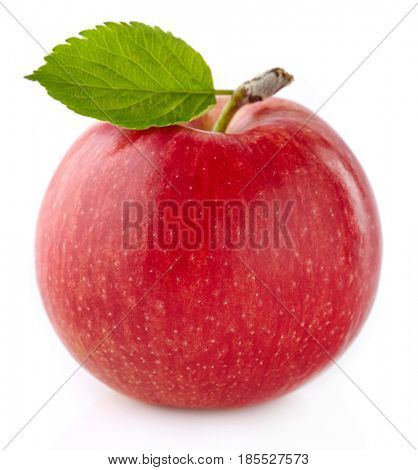 Apples with leaf