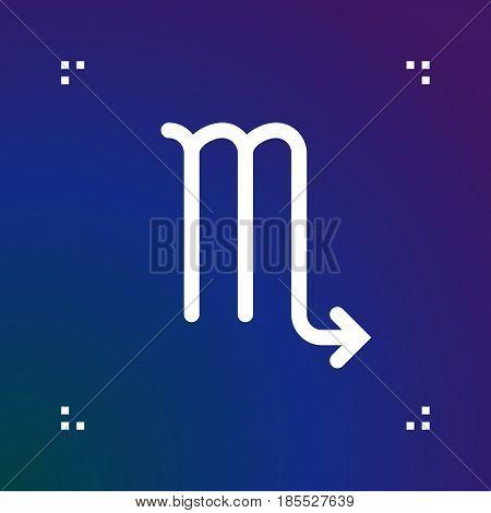 Scorpio Zodiac Vector Sign, Horoscope Symbol, Astrology Line Icon, Linear Logo Illustration