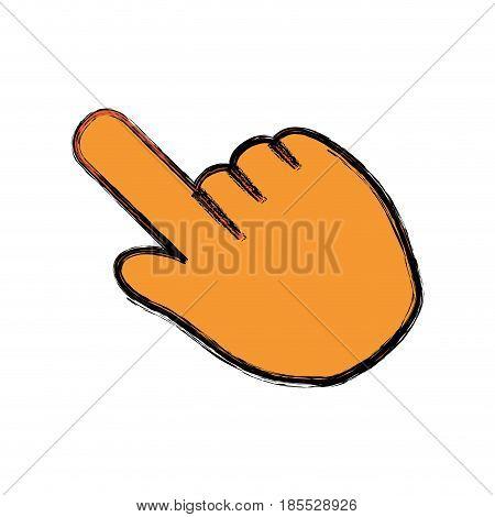 Hand click cursor icon vector illustration graphic design