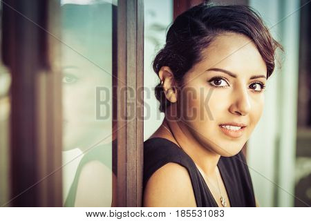 Beautiful smiling saudi arabian woman