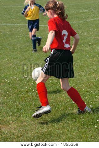 Girl On Soccer Field