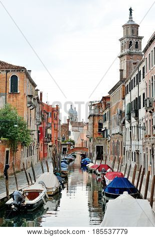 Travel destination Venice Italy - scenic view of a canal