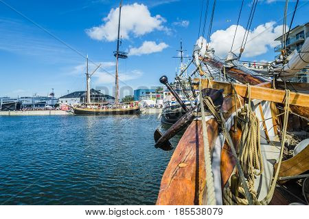 TALLINN, ESTONIA - JULY 16: Yachts come to celebrate the Days of the Sea in Tallinn, Estonia on July 16 2016.