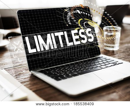 Computer technology limitless graphic