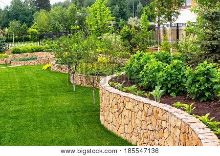 A natural flower landscaping in home garden